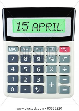 Calculator With 15 April