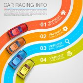 picture of long winding road  - Car racing info art cover - JPG