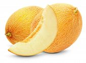 image of melon  - tasty melons isolated on the white background - JPG