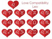 stock photo of leo  - Love compatibility  - JPG