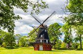 stock photo of copenhagen  - Windmill in the Kastellet fortress - Copenhagen ** Note: Visible grain at 100%, best at smaller sizes - JPG