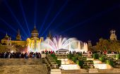 image of fountains  - The Magic Fountain of Montjuic in Barcelona Spain - JPG