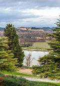 pic of avignon  - View of medieval Fort Saint-Andre from Avignon - France