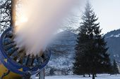 picture of cannon  - Snow cannon close up in the dolomites - JPG