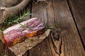stock photo of smoked ham  - Big slice of smoked Ham  - JPG