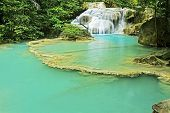 Постер, плакат: Erawan Waterfall With Emerald