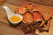 foto of cumin  - Spices asian Dry herb and food ingredient  - JPG