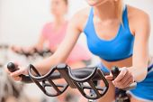 pic of exercise bike  - Cycling on exercise bikes - JPG