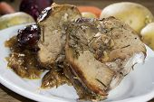 picture of piglet  - a dish very cooked in Sardinia the baked piglet - JPG