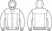 pic of down jacket  - Vector illustration of winter down jacket - JPG