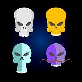 image of skull  - Skull Collection Cartoon - JPG