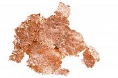 image of copper  - native copper mineral isolated on white background - JPG