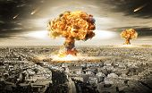 stock photo of nuke  - Nuclear war  - JPG