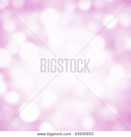 Abstract Christmas Twinkled Bright Background With Bokeh Defocused White And Soft Pink