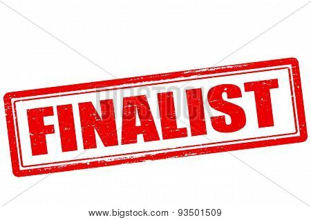 Rubber stamp with word finalist inside vector illustration