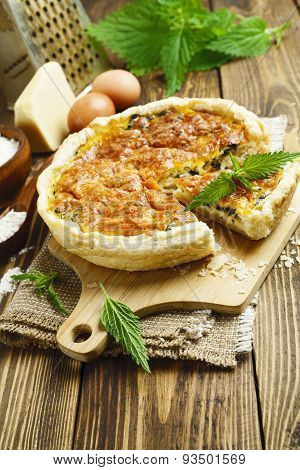 Pie With Nettles And Cheese