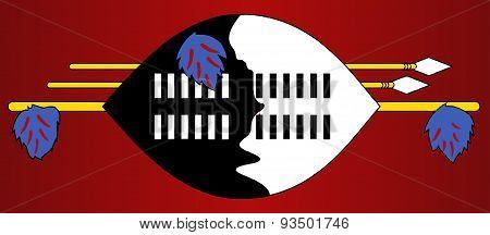 Swaziland Native Shield Flag
