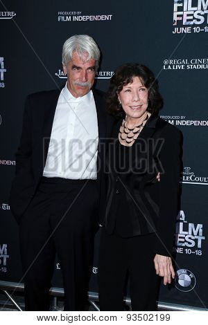LOS ANGELES - JUN 10:  Sam Elliott, Lily Tomlin at the