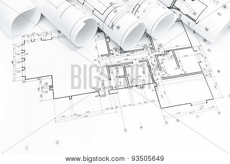 Architectural Blueprints Rolls
