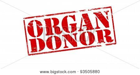 Rubber stamp with text organ donor inside vector illustration