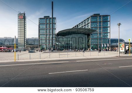 Berlin Hauptbahnhof Or Berlin Central Station.