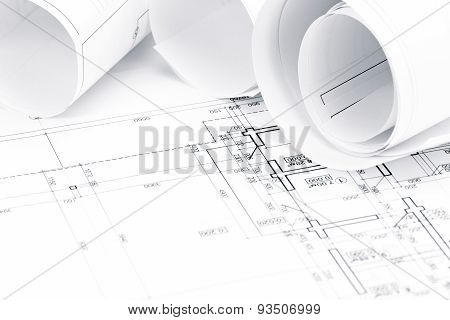 Architectural Blueprints With House Plans