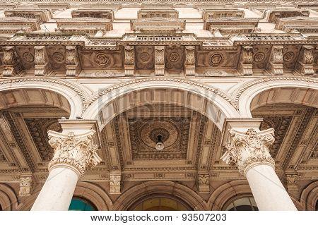 Detail Of Galleria Vittorio Emanuele Ii In Milan, Italy