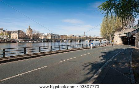The Pont Des Arts Or Passerelle Des Arts Is A Pedestrian Bridge In Paris