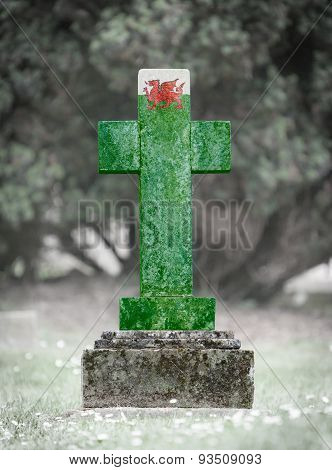 Gravestone In The Cemetery - Wales