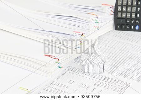 House With Step Pile Of Paperwork As Background
