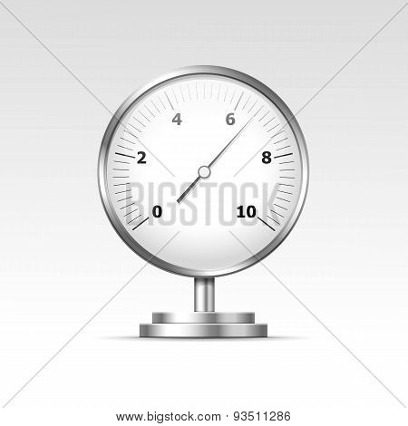 Vector Pressure Gauge Manometer Isolated