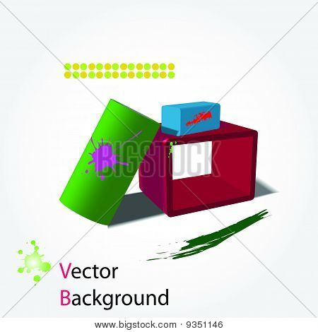 3D Abstract Background. Vector