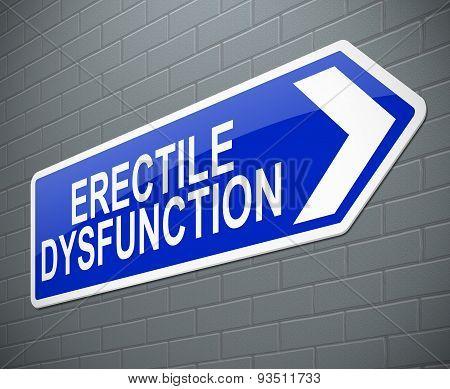 Erectile Dysfunction Concept.