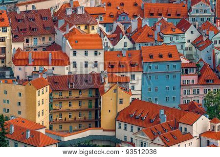 Prague Houses And Rooftops