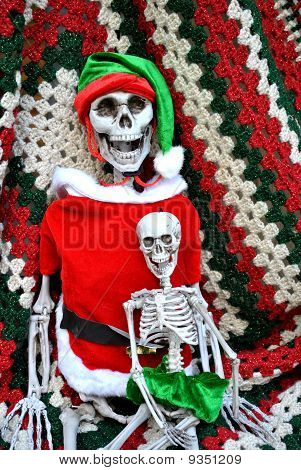 Skeleton Celebrating Christmas
