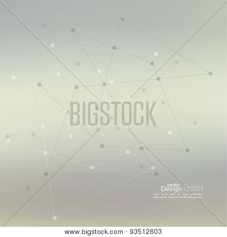 Abstract neat Blurred Background with Dots Array