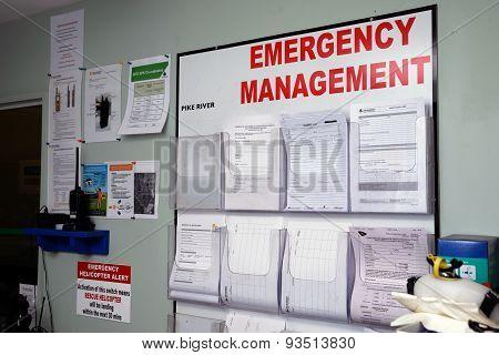 emergency signage