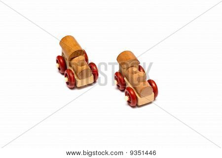 Two toy steam engine
