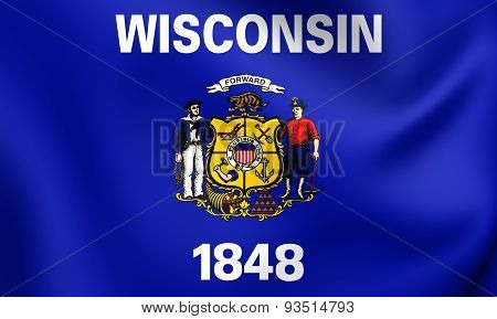 Flag Of The Wisconsin, Usa.