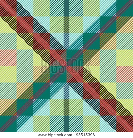 Green seamless tartan pattern