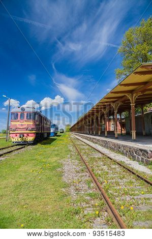 Inoperative Railway Station In Haapsalu, Estonia