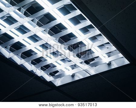 Neon Lights On Ceiling