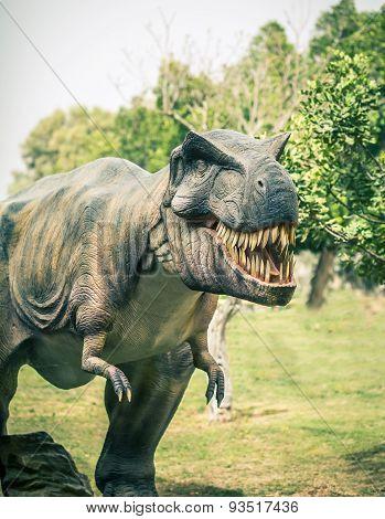 Ancient Extinct Dinosaur Tyrannosaurus