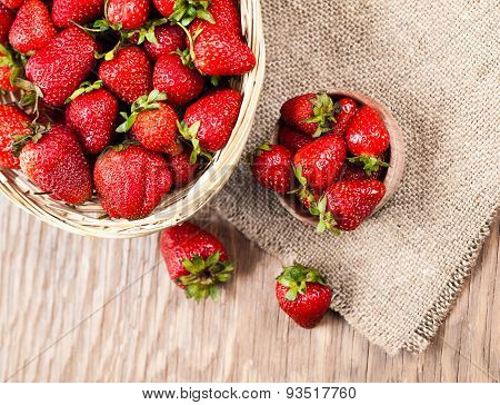 Ripe Strawberry In Bowl