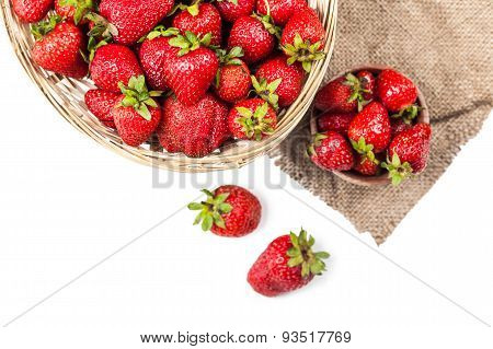 Many Ripe Strawberries Close-up