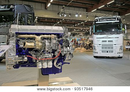 Volvo D13K540 Diesel Engine Displayed at Logistics Transport 2015
