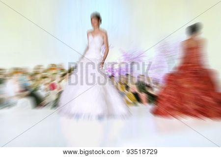 Abstract Background - Fashion Models On Catwalk