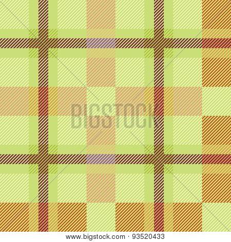 Yellow seamless tartan pattern