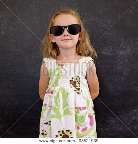 Beautiful Little Girl Wearing Sunglasses