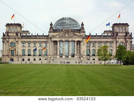 View Of The Reichstag In Berlin